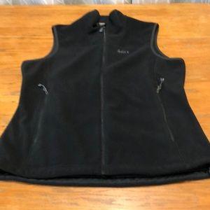 REI black fleece zip up vest ladies XL